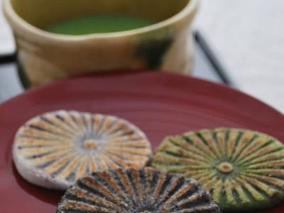 滝の焼餅抹茶セット②加工