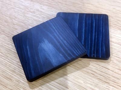 藍染め杉コースター2枚